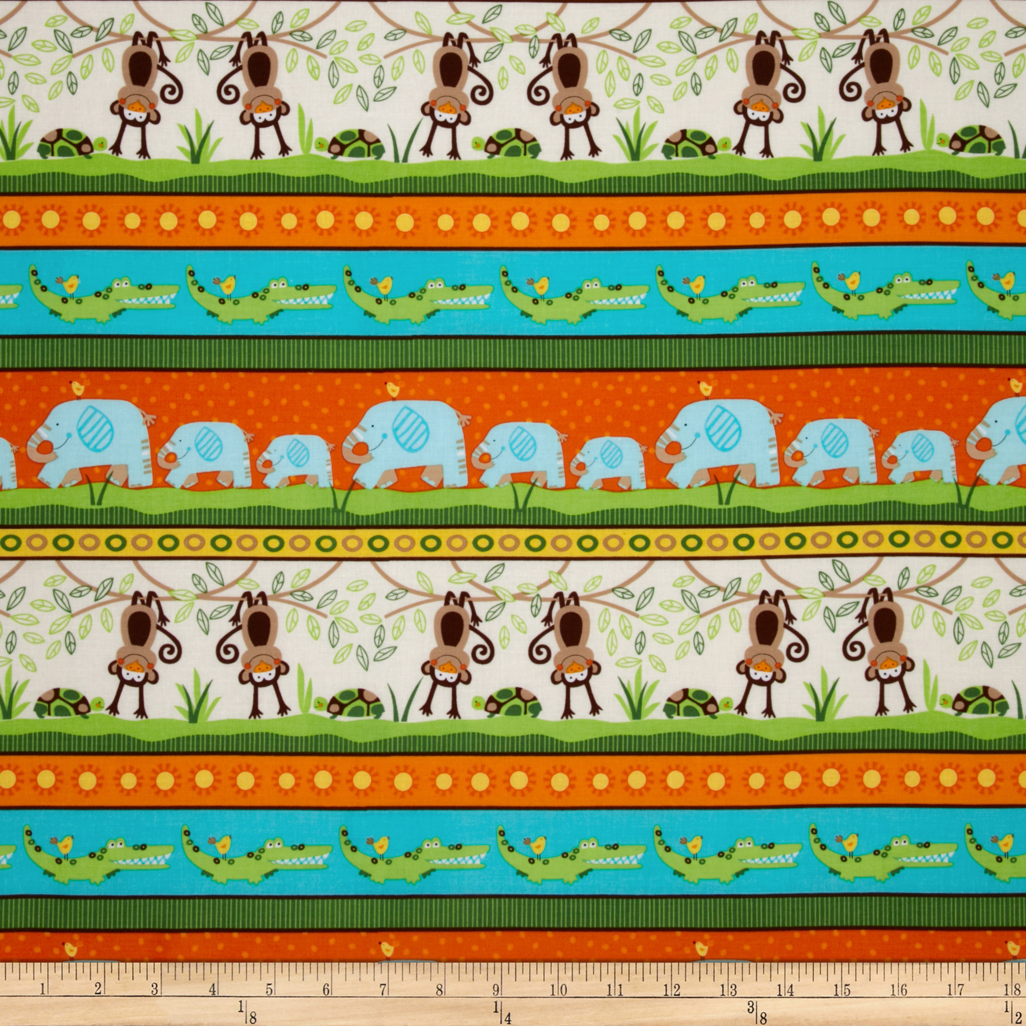 Timeless Treasures Jungle Bunch Stripe Fabric