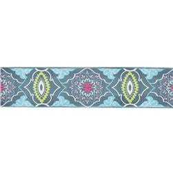 2'' Amy Butler Brocade Ribbon Grey/Blue