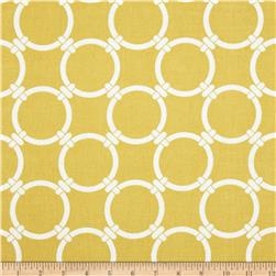 Premier Prints Linked Macon Saffron Yellow
