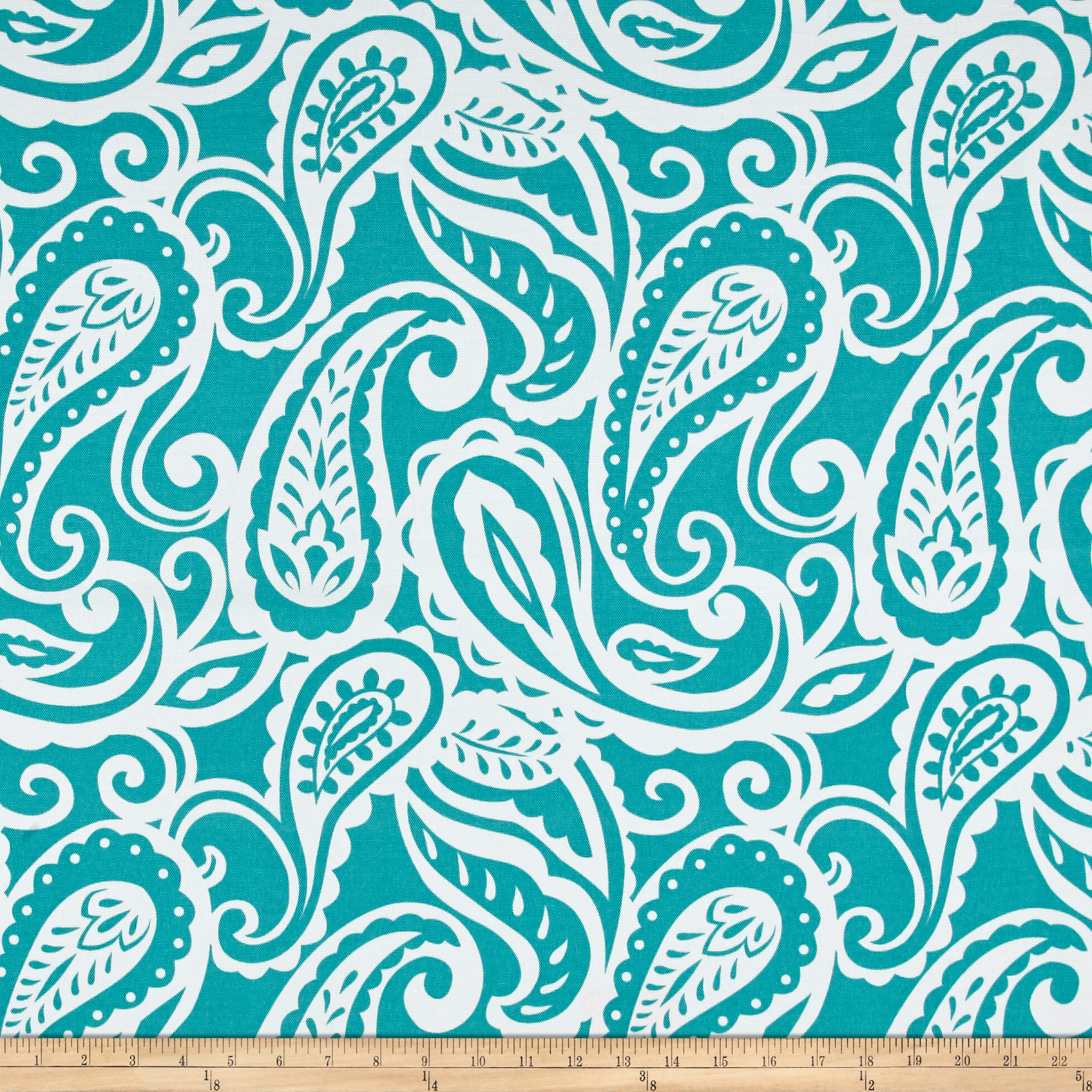 Terrasol Outdoor Sassafras Teal Fabric by Tempro in USA