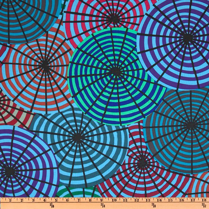 Kaffe Fassett Prints Collection Parasols Blue