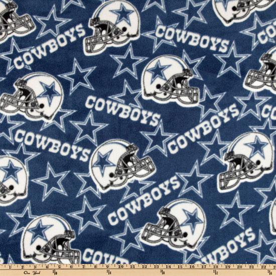 NFL Fleece Dallas Cowboys Toss Blue/White Fabric