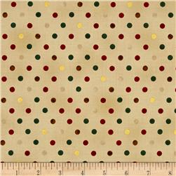 Magical Moments Gold Metallic Dots Beige