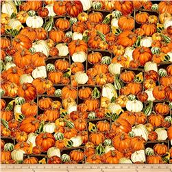 Timeless Treasures Autumn Bounty Metallic Pumpkins And Gourds Pumpkin