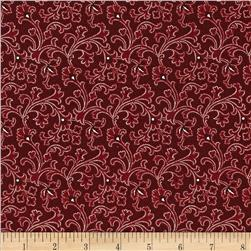 Molly B's 1800's Simply Christmas Texture Swirl Red
