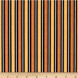 Feline Fine Stripes Brown/Gold