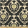 Waverly Sun N Shade Quilted Meridian Medallion Ebony