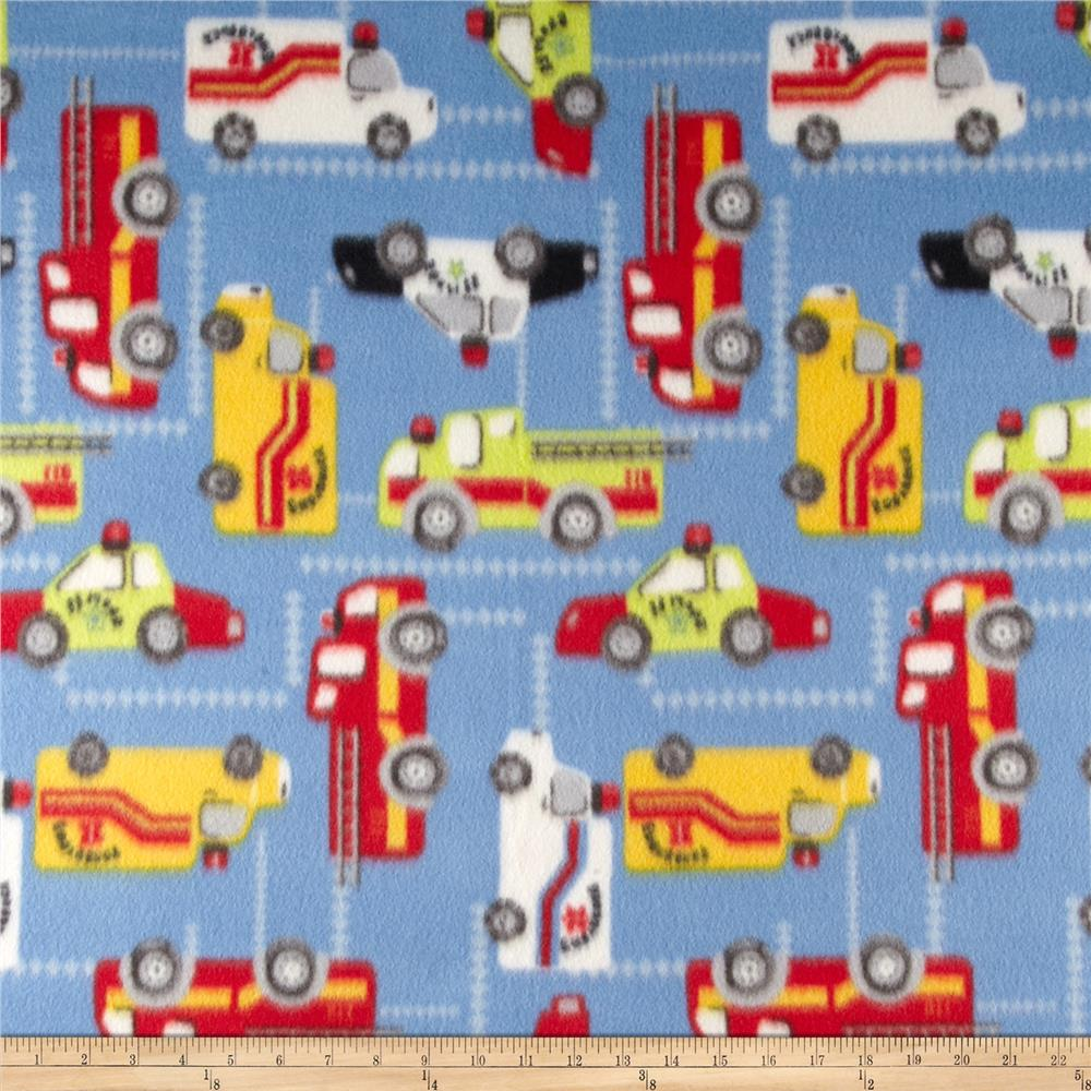 Fleece Print Trucks Blue/Red