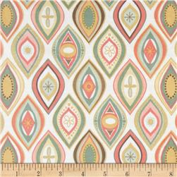 Riley Blake Valencia Laminated Cotton Geometric White