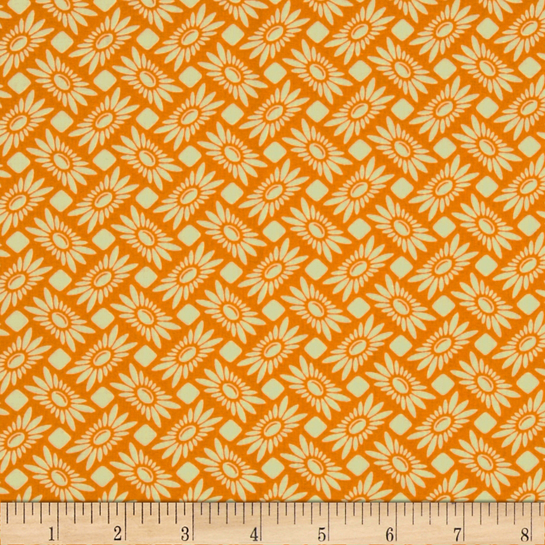 Heather Bailey True Colors Picnic Daisy Tangerine