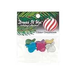 Dress It Up Embellishment Buttons  Glitter Ornaments