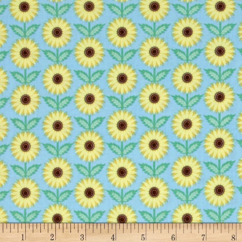 Kansas State Flower Sunflower Blue/Yellow