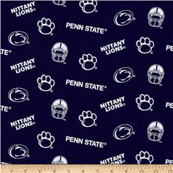 Collegiate Cotton Broadcloth Penn State University Dark Blue