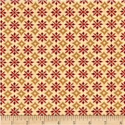 Moda Rejoice In The Season Snowflake Circle Parchment