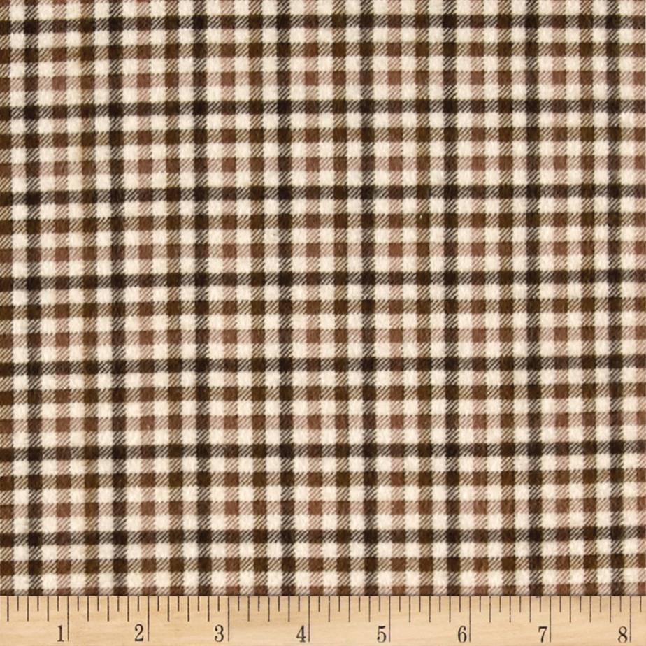 Gingham Flannel Tan/Brown