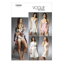 Vogue Misses' Robe, Slip, Camisole and Panties Pattern V8888 Size A50