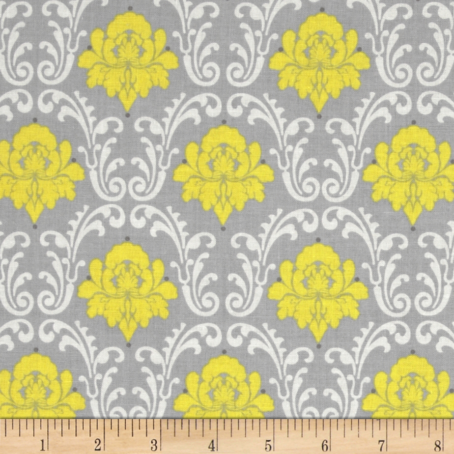 Gray Matters More Scroll Grey Fabric