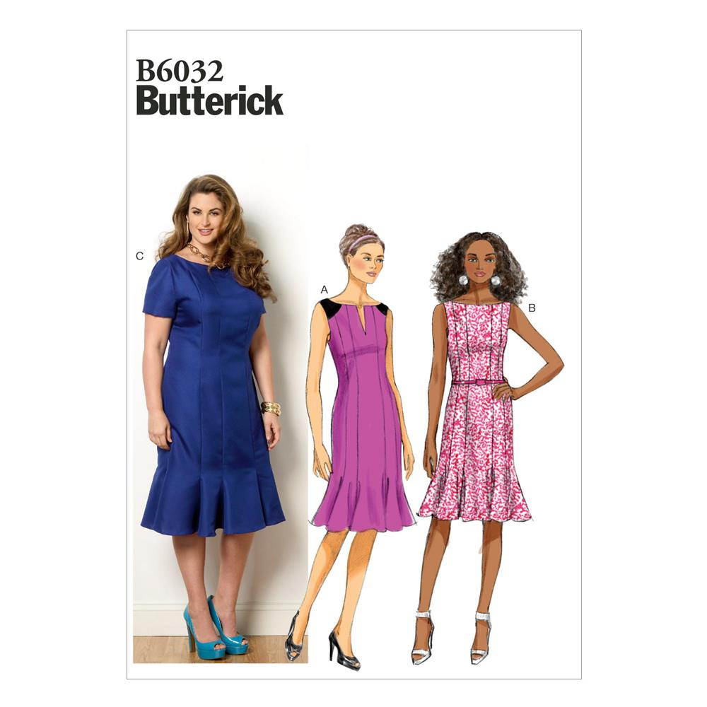 Butterick Misses'/Misses' Petite Women's/Women's Petite Dress Pattern B6032 Size B50