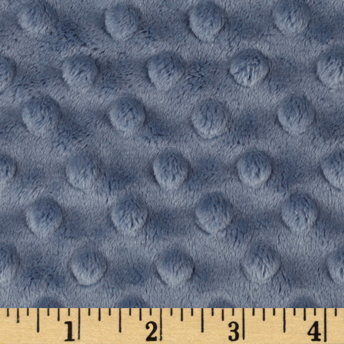 Minky Cuddle Dimple Dot Denim Fabric