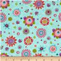 Cool Cats Large Daisy Blue