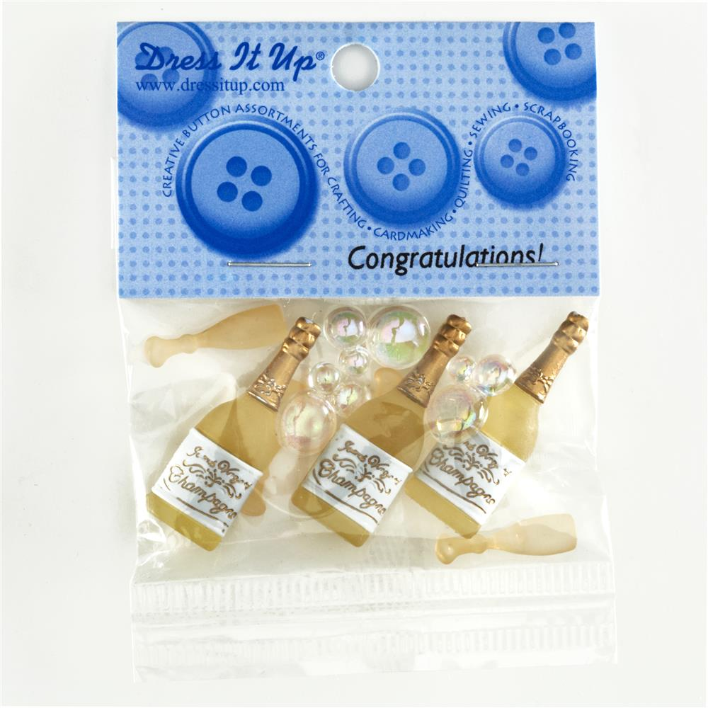 Dress It Up Embellisment Buttons  Congratulations