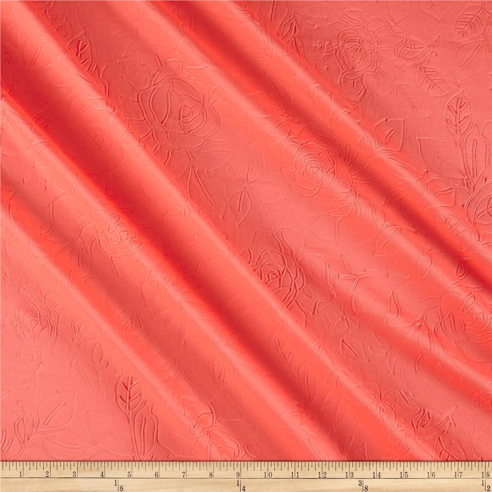 Techno Embossed Double Knit Rose Coral