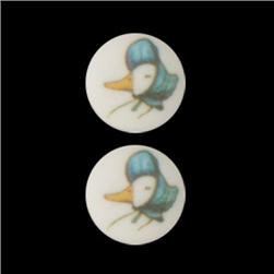 Novelty Button 5/8'' Jem Puddleduck White/Multi