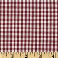 Gingham 1/8'' Checks Galore Burgundy