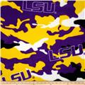 Louisiana State University Fleece Camo Purple