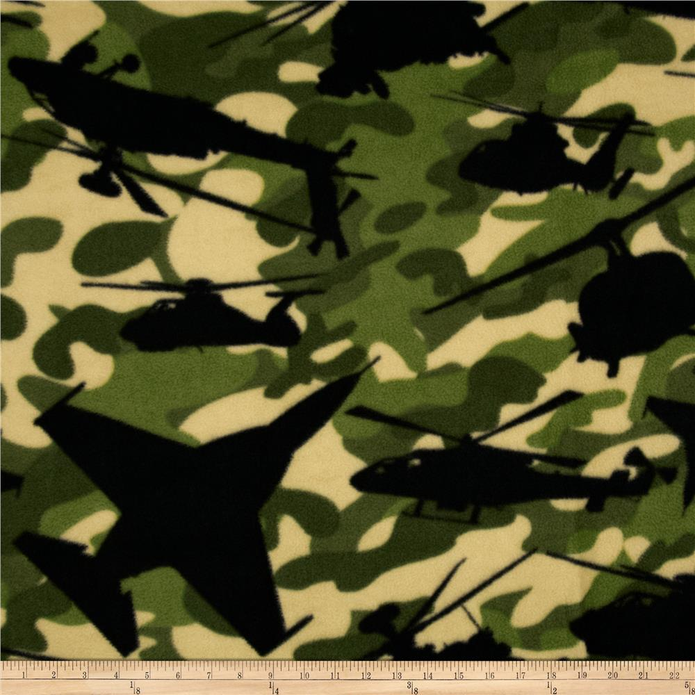 Boys Rock Fleece Airforce Camo Green