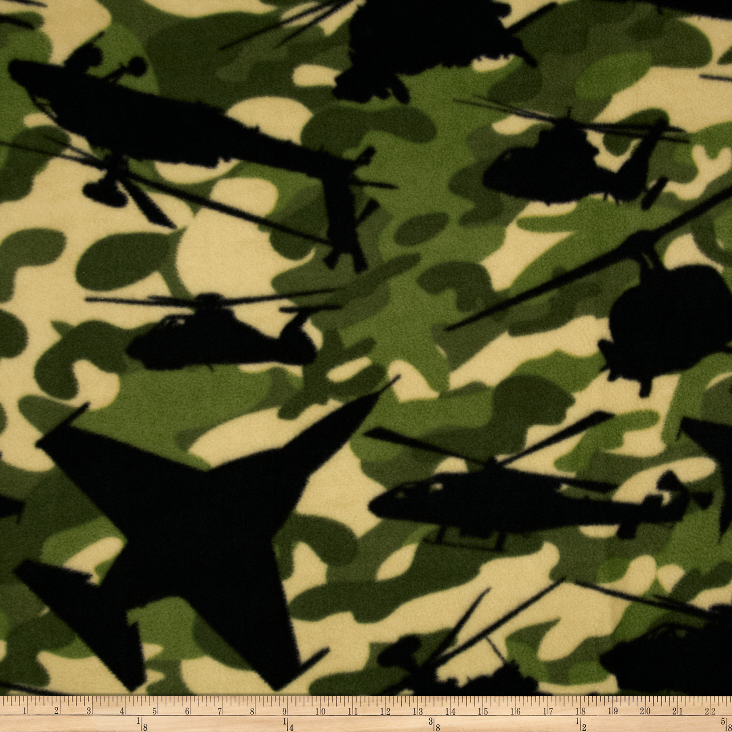 Boys Rock Fleece Airforce Camo Green Fabric