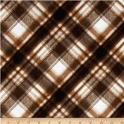 Kanvas Into the Woods Flannel Soft Plaid Chocolate