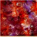 Merrivale Indian Batiks Flowers In Circles Red Multi