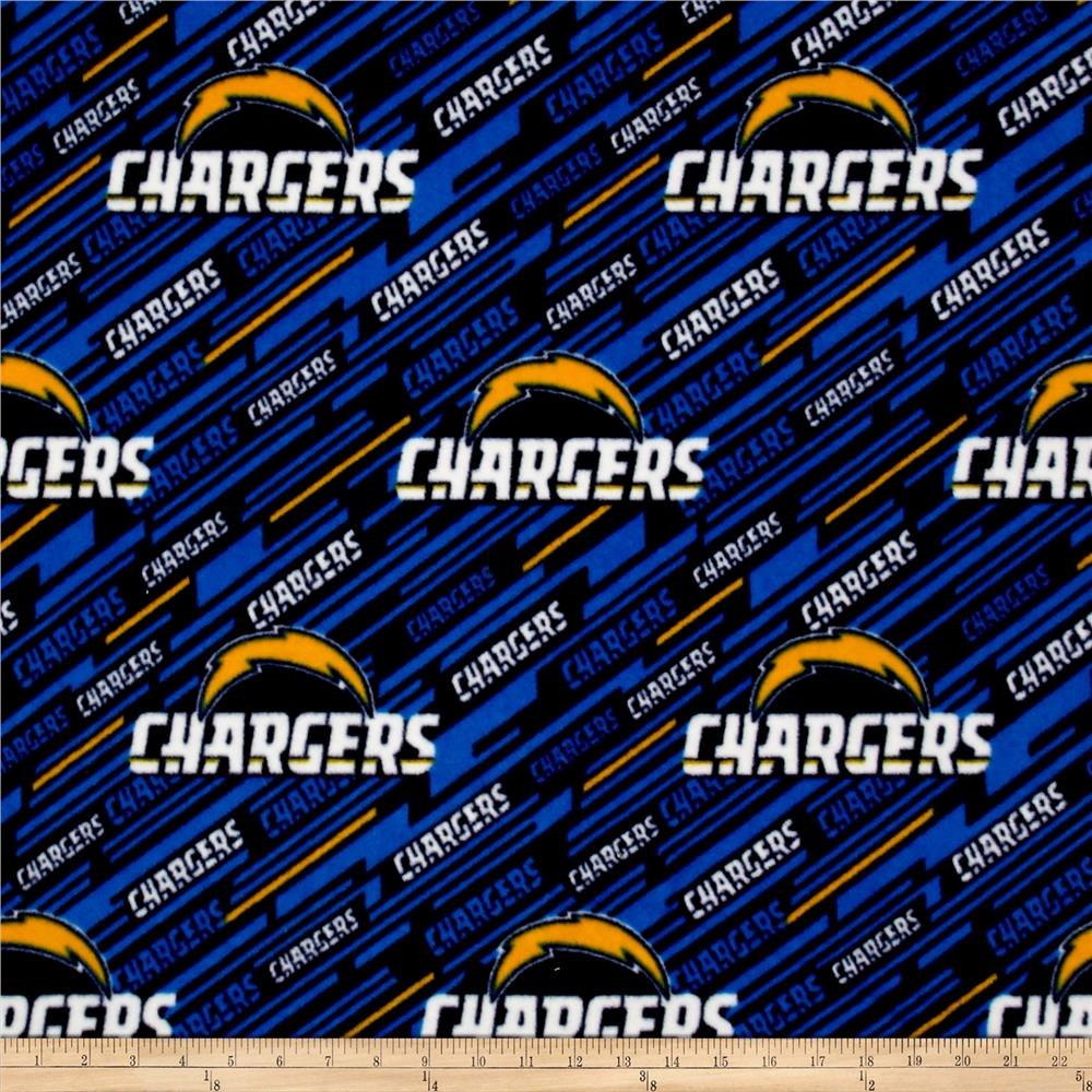 NFL Fleece Los Angeles Chargers Blue Fabric