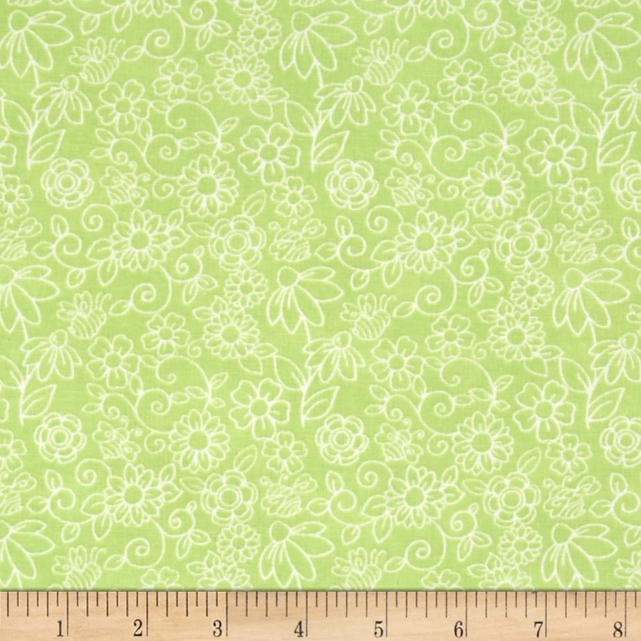 Birds n Bees Monotone Floral Green
