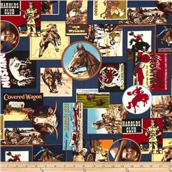 The Old West Cowboy Collage Denim