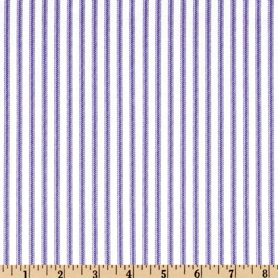 Ticking Stripe Lilac/Ivory