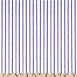 Vertical Ticking Stripe Lilac/Ivory