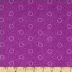 Mystic Forest Flannel Stitched Circles Purple