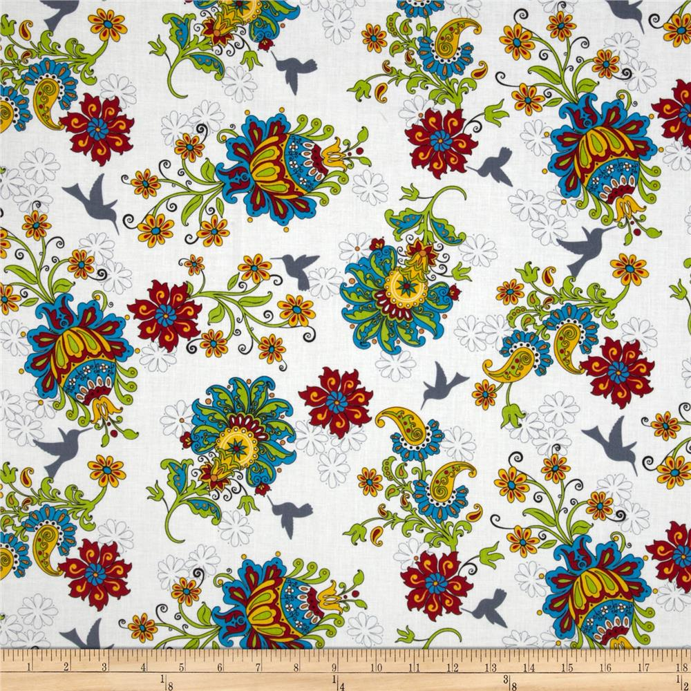 Gypsy Garden Large Floral White