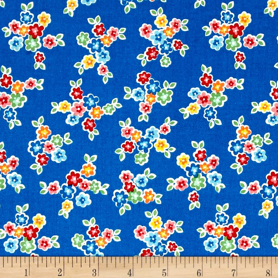 Riley Blake Arbor Blossom Bouquet Blue