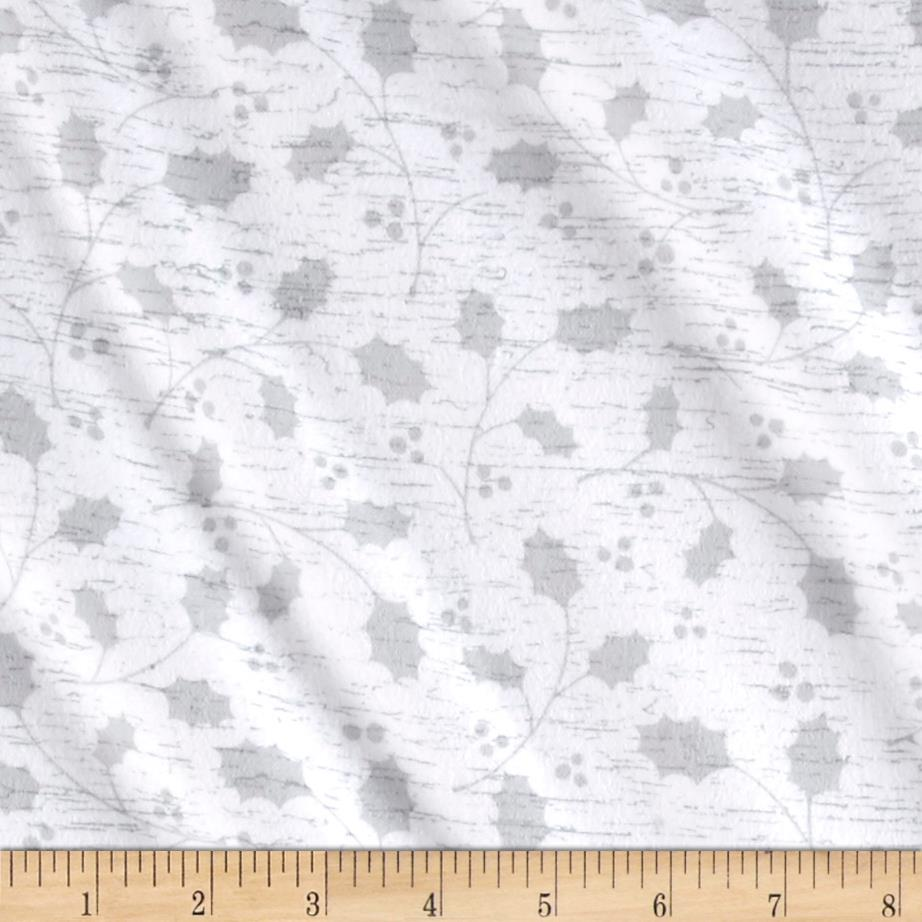 Frosty Folks Flannel Holly White/Gray