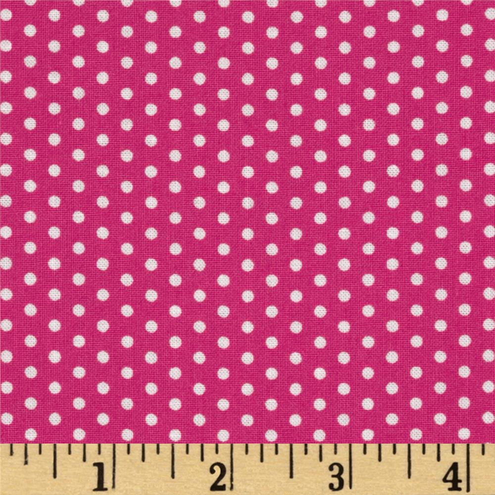 Kaufman Spot On Pindot Hot Pink