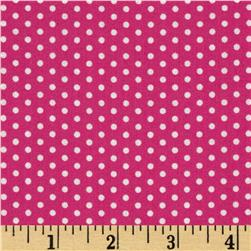 Kaufman Spot On Pindot Hot Pink Fabric