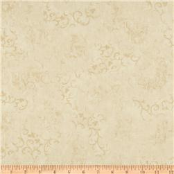"108"" Wide Essentials Quilt Backing Scroll Ivory"