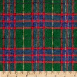 6 oz. Flannel Large Plaid Green/Navy/Red