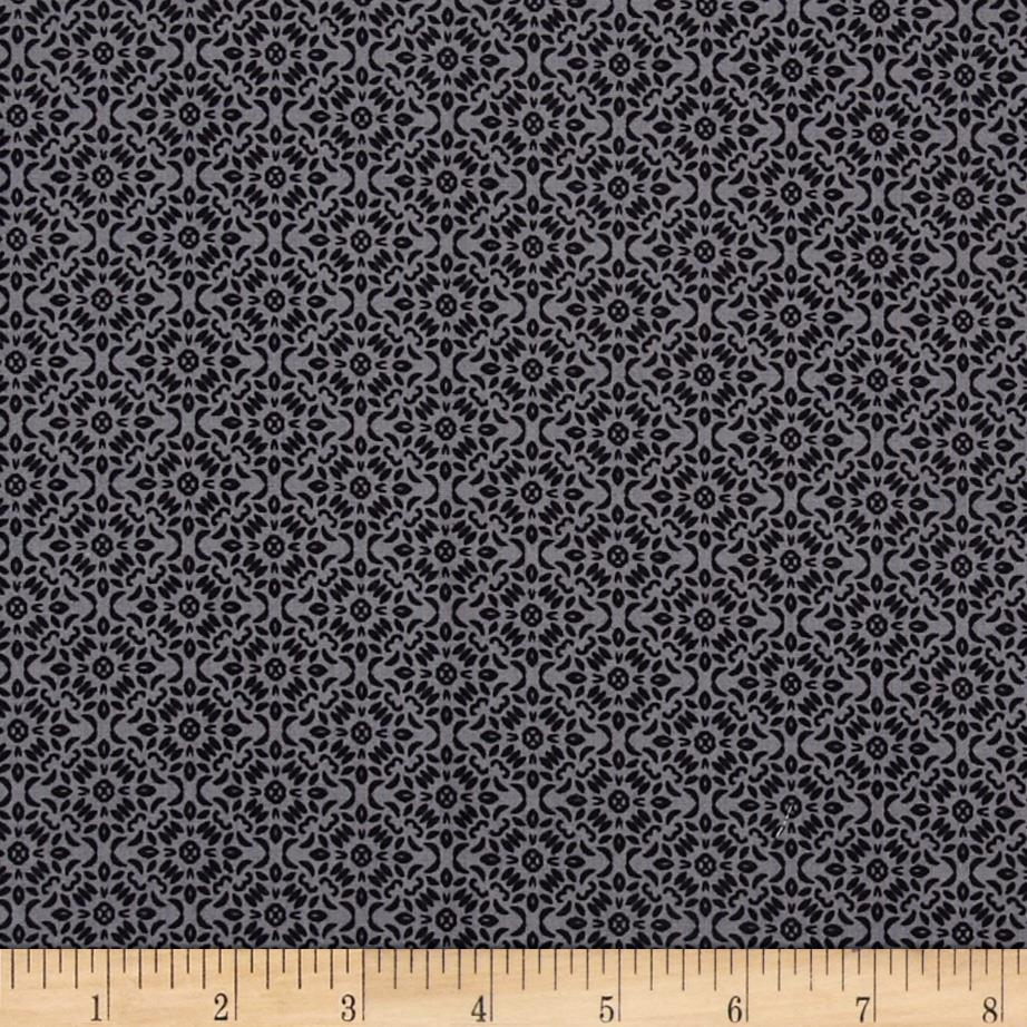 Timeless Treasures Calais Calico Geo Grey