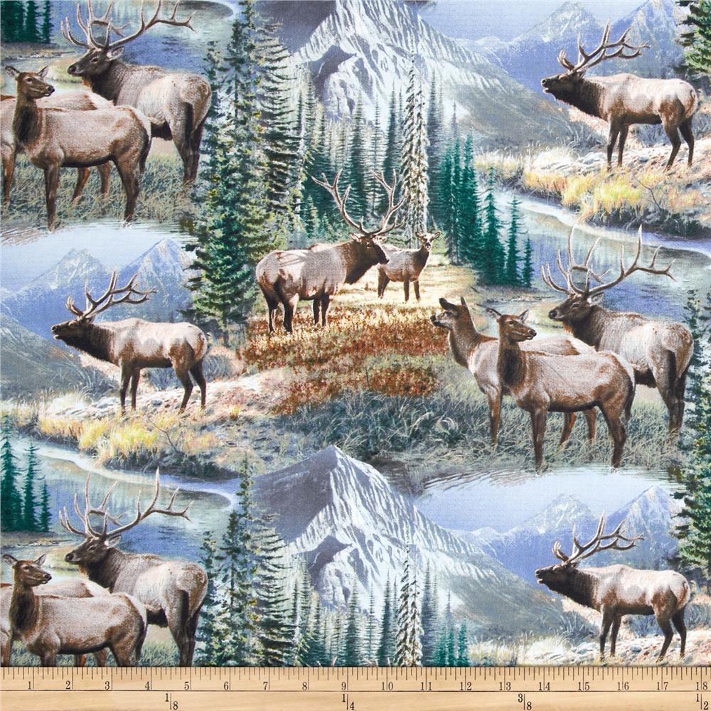 Mountain Sky Scenic Elk Blue