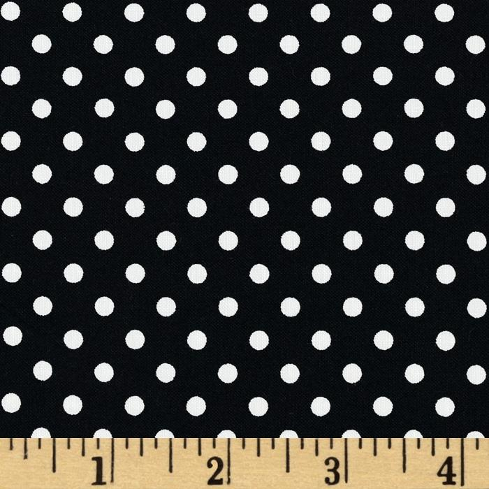 Aunt Grace Dots Black