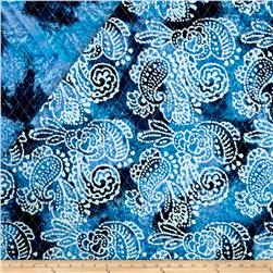 Indian Batik Double Face Quilted Paisley Blue